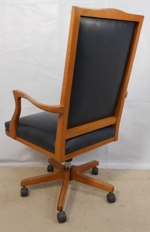 Leather Upholstered Wooden Frame Swivel Office Armchair : leather upholstered wooden frame swivel office armchair 4 3251 p from www.harrisonantiquefurniture.co.uk size 491 x 756 jpeg 161kB